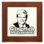 Gingrich for President Framed Tile