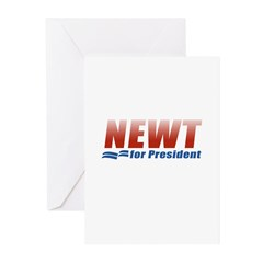 Newt for President Greeting Cards (Pk of 10)