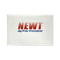 Newt for President Rectangle Magnet (100 pack)