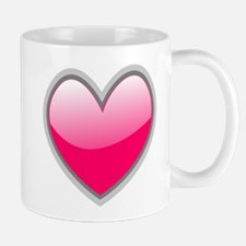 Heart Fuschia Mugs