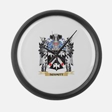 Schmitt Coat of Arms - Family Cre Large Wall Clock