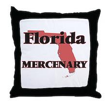 Florida Mercenary Throw Pillow