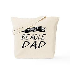 Worlds Best Beagle Dad Tote Bag