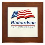 Richardson for President Framed Tile
