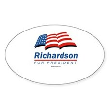 Richardson for President Oval Decal