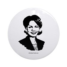 Condi Rice Face Ornament (Round)