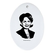 Condi Rice Face Oval Ornament