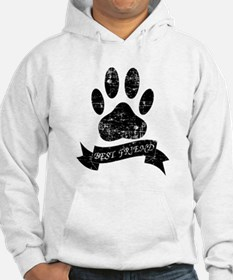 Distressed Dog Paw With Ribbon Hoodie