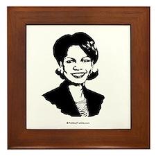 Condi Rice Face Framed Tile