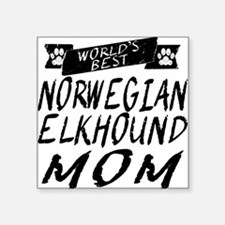 Worlds Best Norwegian Elkhound Mom Sticker