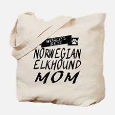 Worlds Best Norwegian Elkhound Mom Tote Bag