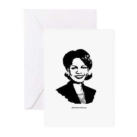Condi Rice Face Greeting Cards (Pk of 20)