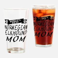 Worlds Best Norwegian Elkhound Mom Drinking Glass