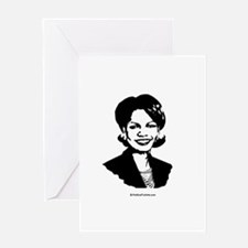 Condi Rice Face Greeting Card