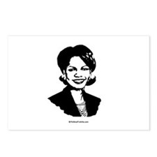 Condi Rice Face Postcards (Package of 8)