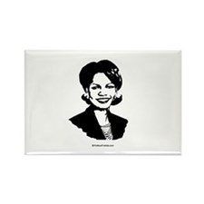 Condi Rice Face Rectangle Magnet