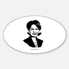 Condi Rice Face Oval Decal