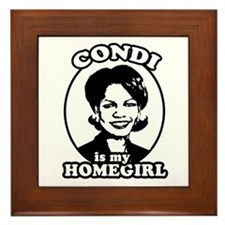 Condi is my homegirl Framed Tile
