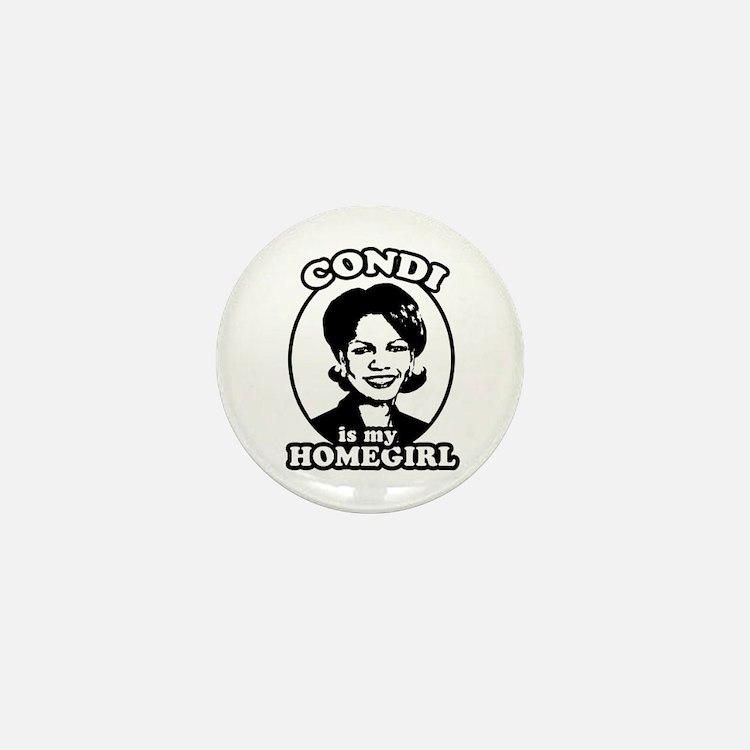 Condi is my homegirl Mini Button