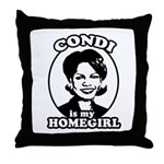 Condi is my homegirl Throw Pillow