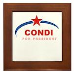 Condi for President Framed Tile