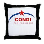 Condi for President Throw Pillow
