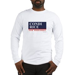 Condi RIce for President Long Sleeve T-Shirt