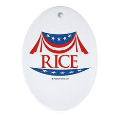 Rice Oval Ornament