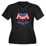 Rice Women's Plus Size V-Neck Dark T-Shirt
