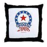 Condi 2008 Throw Pillow