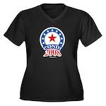 Condi 2008 Women's Plus Size V-Neck Dark T-Shirt