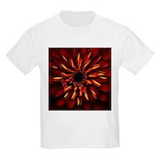 Orange Red Flower Glow T-Shirt