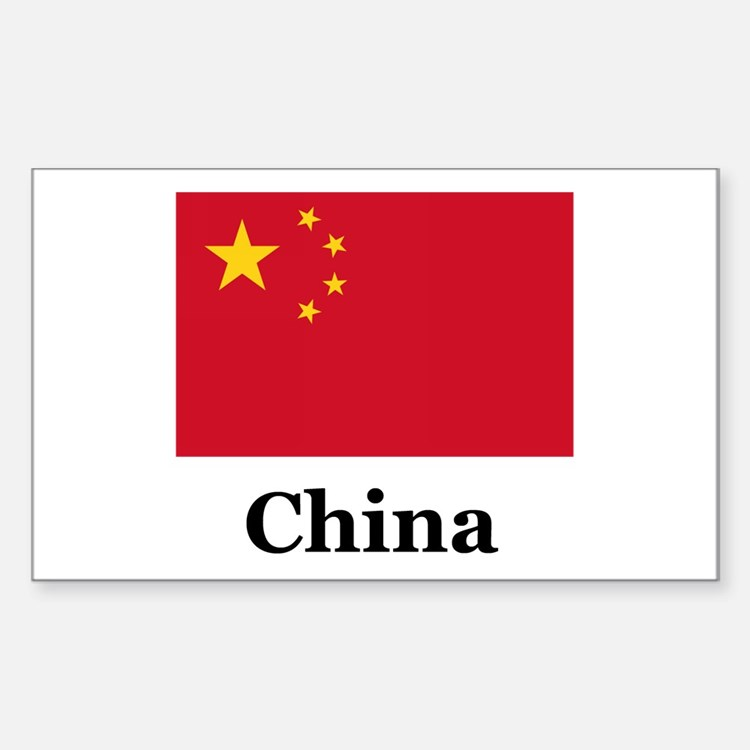 China Flag Rectangle Decal