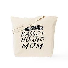 Worlds Best Basset Hound Mom Tote Bag