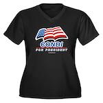 Condi for President Women's Plus Size V-Neck Dark