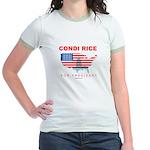 Condi Rice for President Jr. Ringer T-Shirt