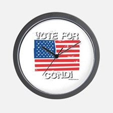 Vote for Condi Wall Clock