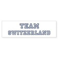 Team Switzerland Bumper Bumper Sticker