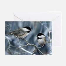 chickadee song bird Greeting Card