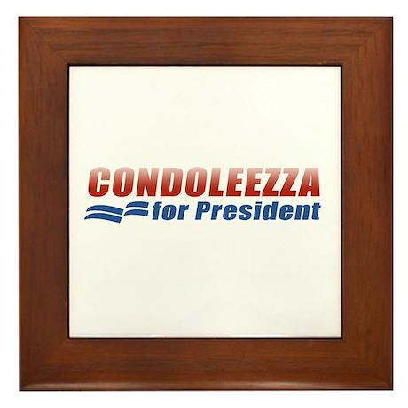 Condoleezza for President Framed Tile