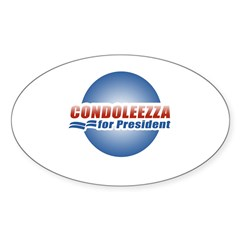 Condoleezza for President Oval Sticker