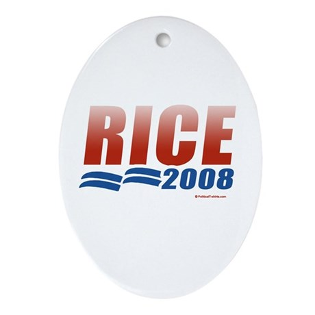 Rice 2008 Oval Ornament