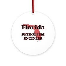 Florida Petroleum Engineer Round Ornament