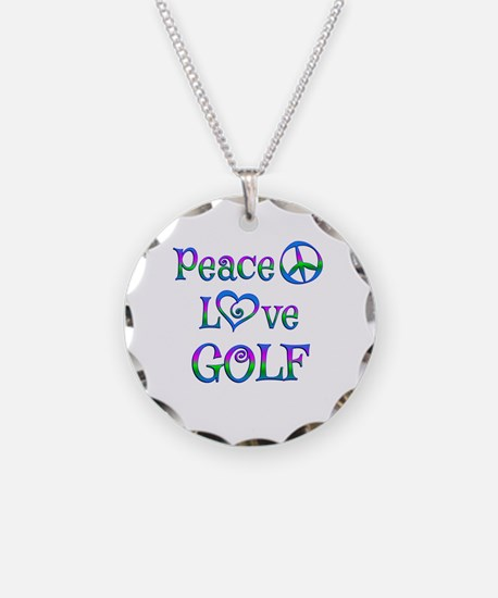 Peace Love Golf Necklace