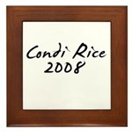 Condi Rice Autograph Framed Tile