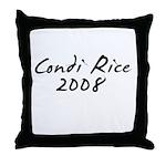 Condi Rice Autograph Throw Pillow