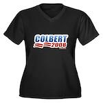Stephen Colbert 2008 Women's Plus Size V-Neck Dark
