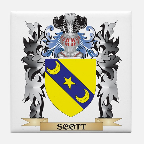 Scott Coat of Arms - Family Crest Tile Coaster