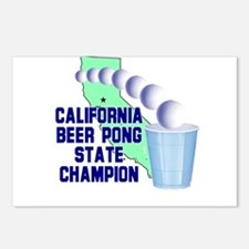 California Beer Pong State Ch Postcards (Package o