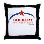 Colbert for President Throw Pillow